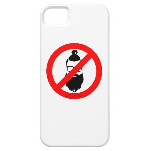 No Hipsters or Man Buns Case-Mate Barely There iPhone SE + iPhone 5/5S Case