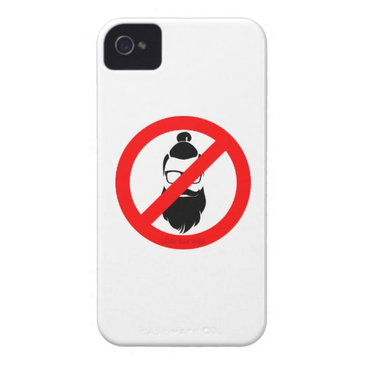 No Hipsters or Man Buns Case-Mate iPhone 4 Barely There Universal Case