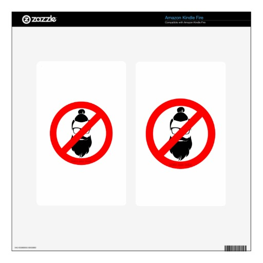 No Hipsters or Man Buns Kindle Fire Decals