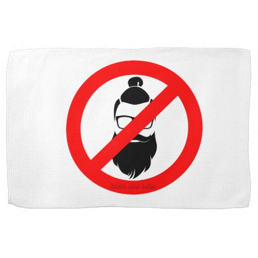 "No Hipsters or Man Buns Kitchen Towel 16"" x 24"""