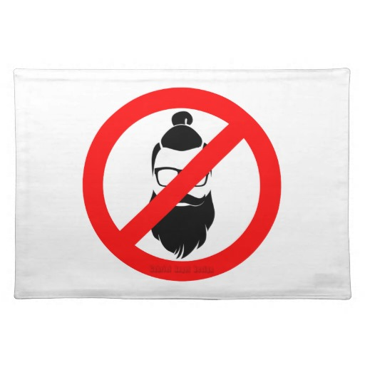 """No Hipsters or Man Buns Placemats  20"""" x 14"""""""