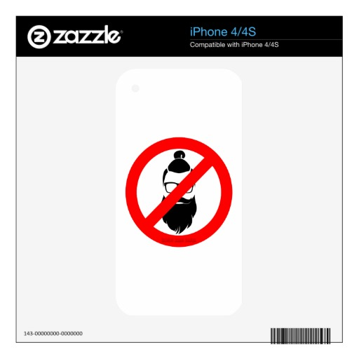 No Hipsters or Man Buns Skin For iPhone 4