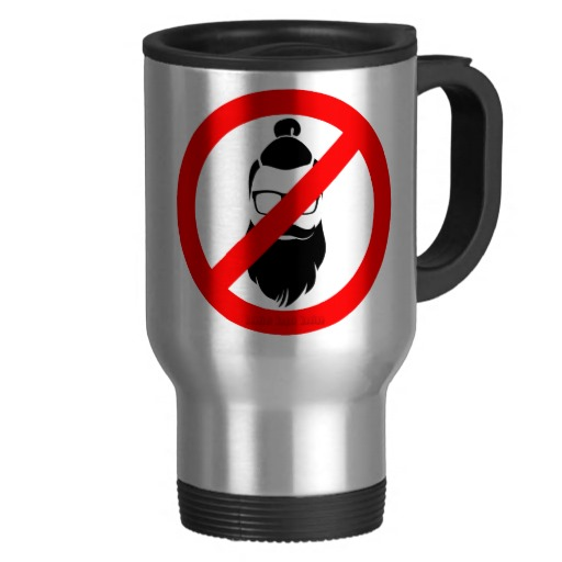 No Hipsters or Man Buns Travel/Commuter Mug