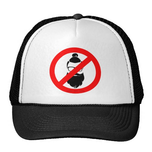 No Hipsters or Man Buns Trucker Hat