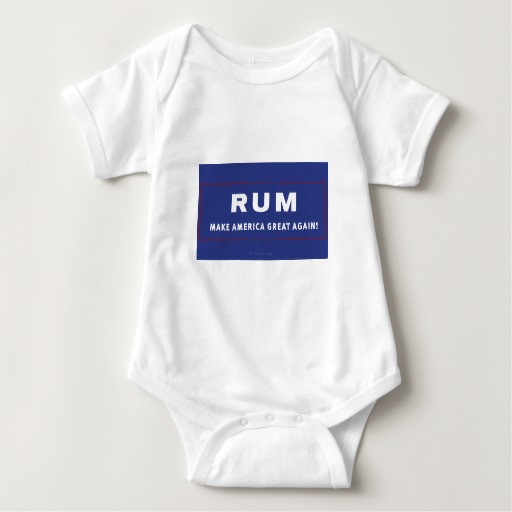 Rum Make America Great Again Baby Jersey Bodysuit