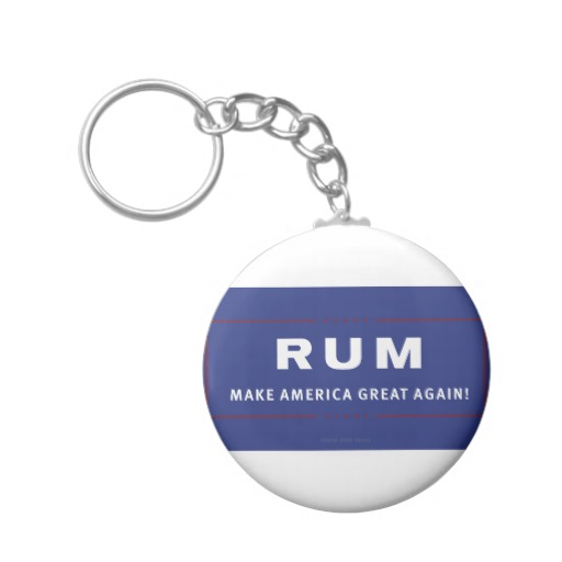 Rum Make America Great Again Basic Button Keychain