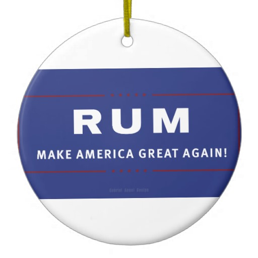 Rum Make America Great Again Circle Ornament
