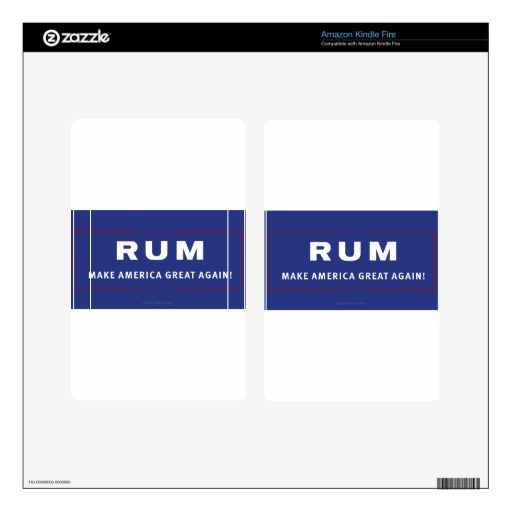 Rum Make America Great Again Decal For Kindle Fire