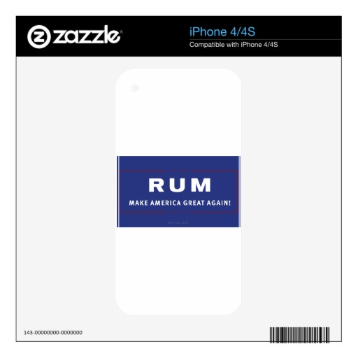 Rum Make America Great Again Decals For The iPhone 4S