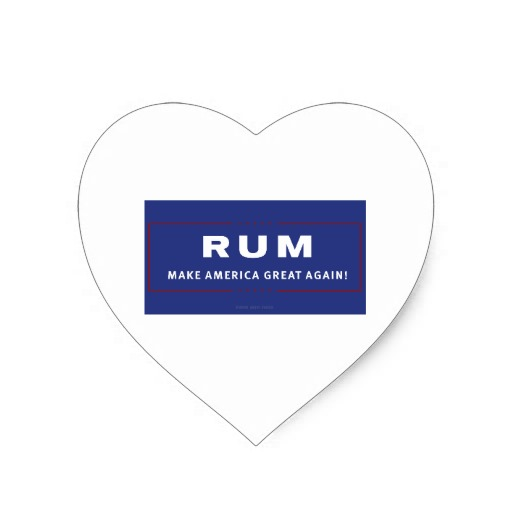 Rum Make America Great Again Heart Sticker