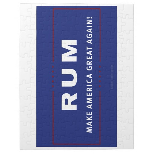 Rum Make America Great Again Jigsaw Puzzle