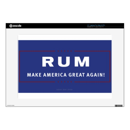 Rum Make America Great Again Laptop Skins