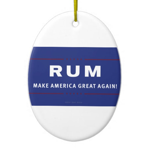Rum Make America Great Again Oval Ornament