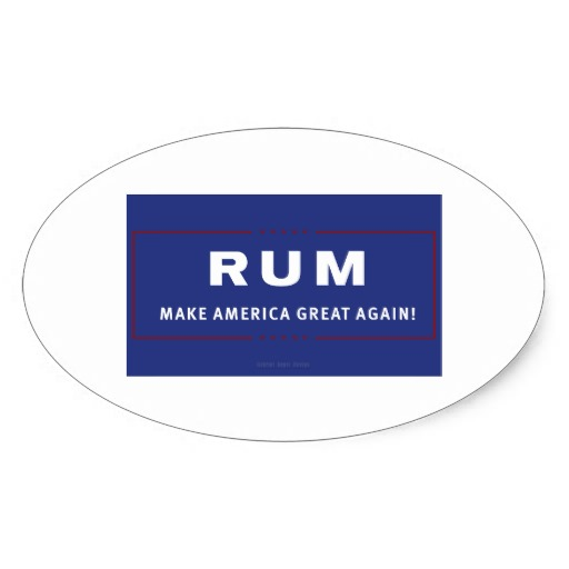 Rum Make America Great Again Oval Sticker