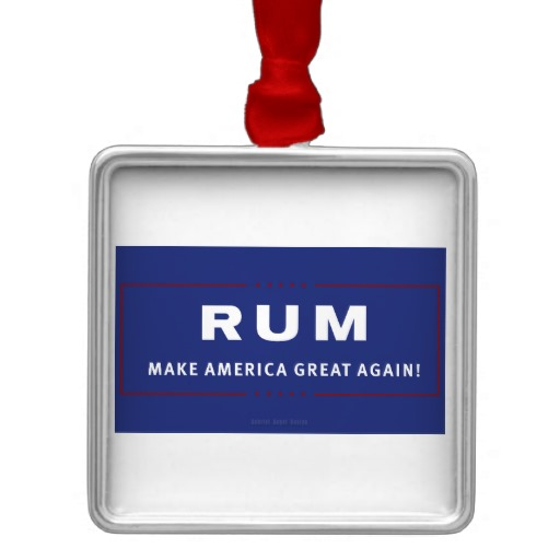 Rum Make America Great Again Premium Square Ornament