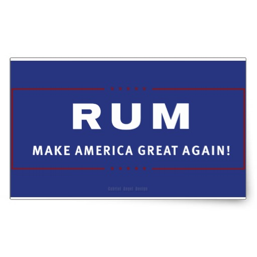 Rum Make America Great Again Rectangular Sticker