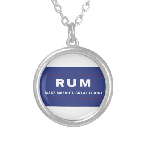Rum Make America Great Again Round Necklace