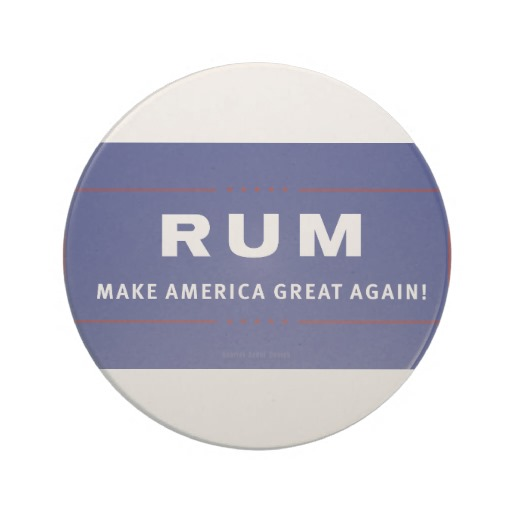 Rum Make America Great Again Sandstone Drink Coaster