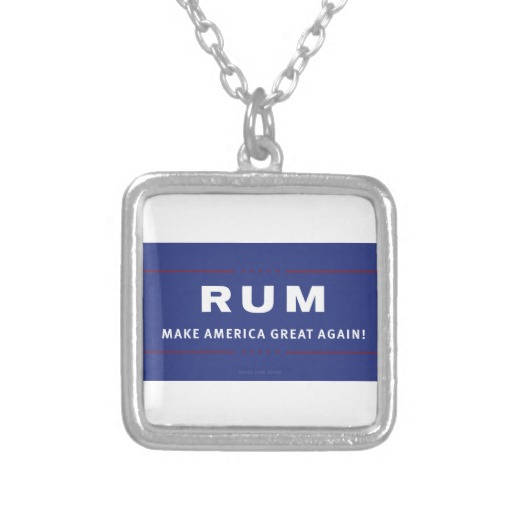 Rum Make America Great Again Square Necklace