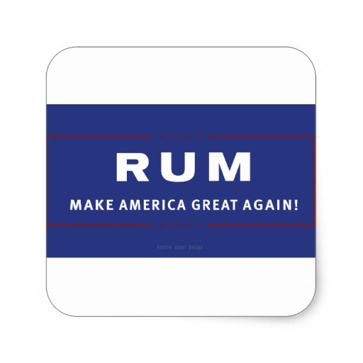 Rum Make America Great Again Square Sticker