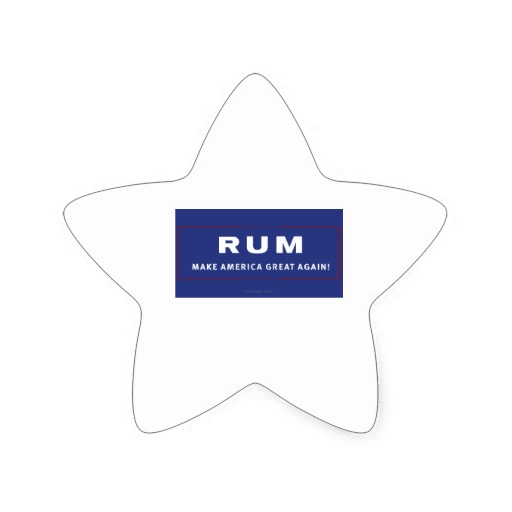 Rum Make America Great Again Star Sticker