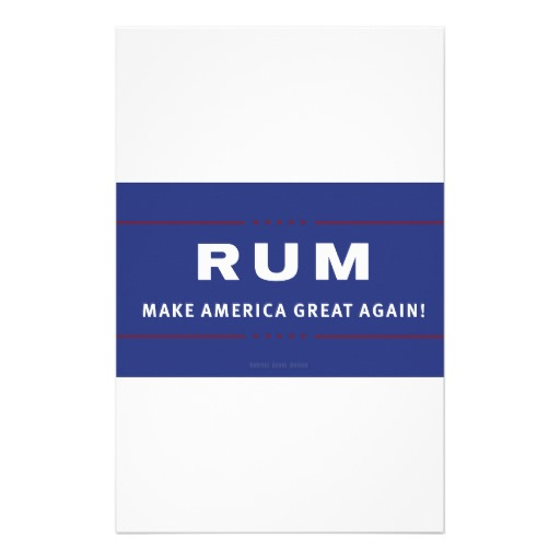 Rum Make America Great Again Stationery