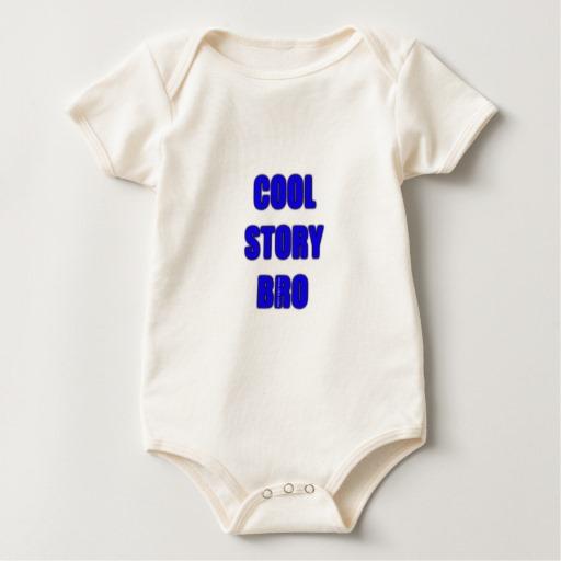 Cool Story Bro Baby American Apparel Organic Bodysuit