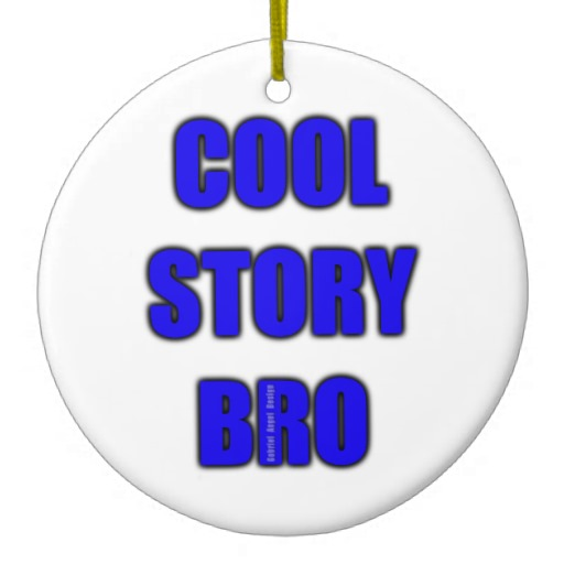 Cool Story Bro Circle Ornament