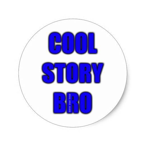 Cool Story Bro Classic Round Sticker