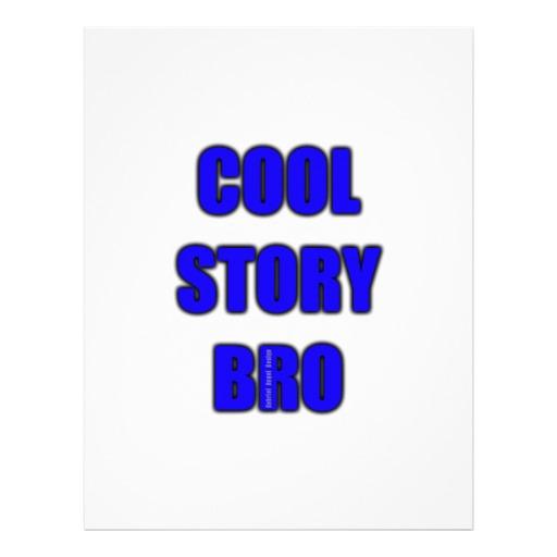 Cool Story Bro Letterhead