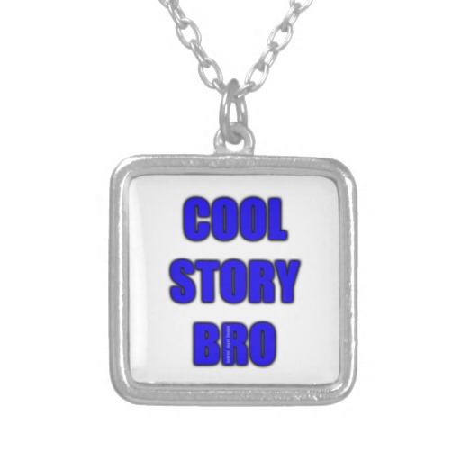 Cool Story Bro Square Necklace