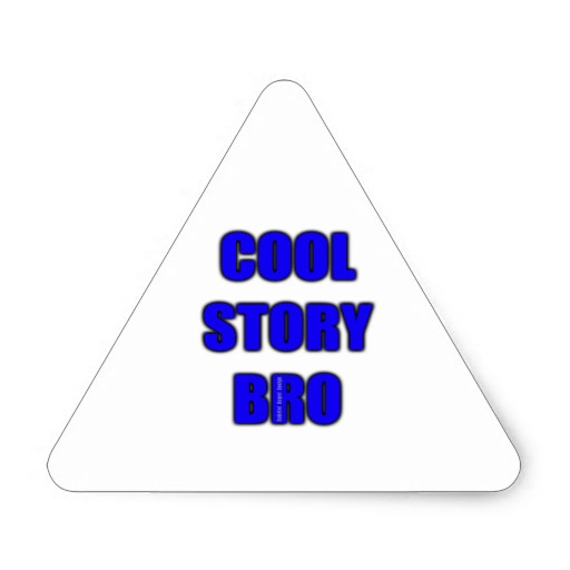 Cool Story Bro Triangle Sticker