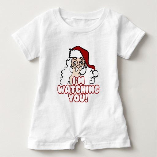 Santa I'm Watching You Baby Romper