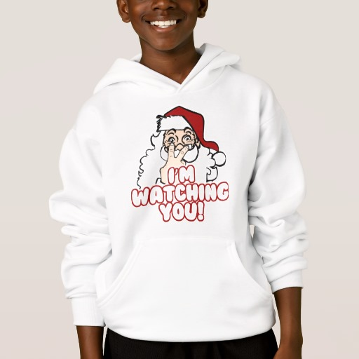 Santa I'm Watching You Kids' Hanes ComfortBlend® Hoodie