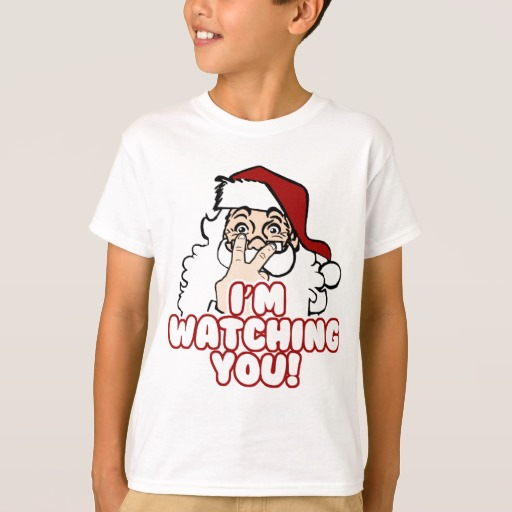 Santa I'm Watching You Kids' Hanes TAGLESS® T-Shirt