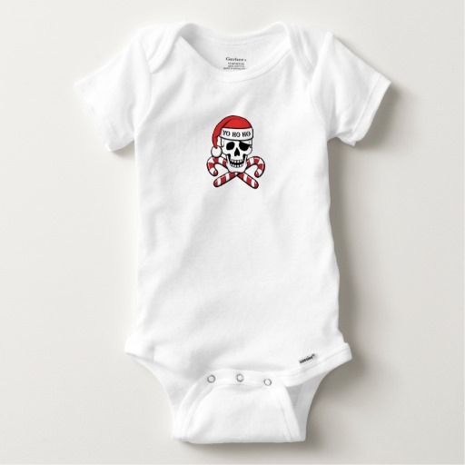 Christmas Pirate Skull Baby Gerber Cotton Onesie