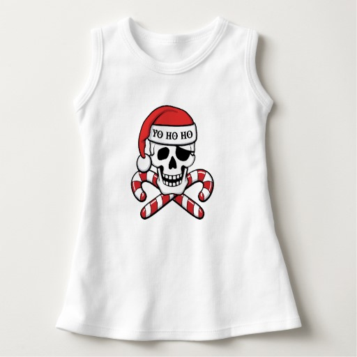Christmas Pirate Skull Baby Sleeveless Dress