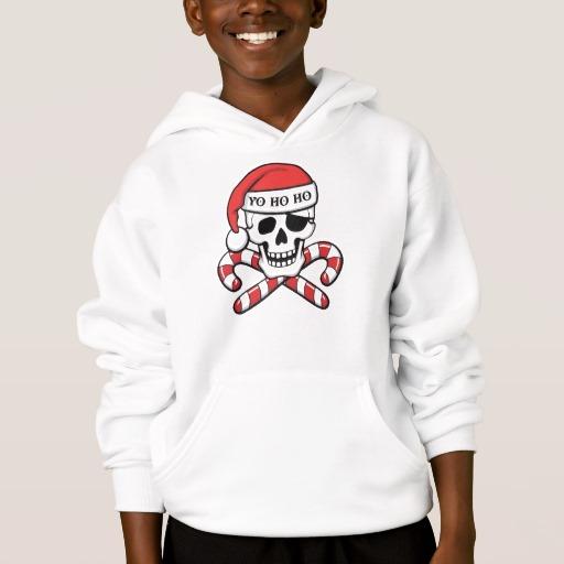 Christmas Pirate Skull Kids' Hanes ComfortBlend® Hoodie