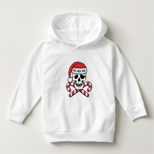 Christmas Pirate Skull Toddler Pullover Hoodie