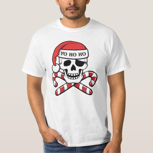 Christmas Pirate Skull Value T-Shirt