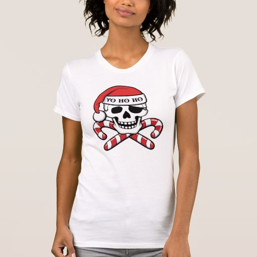 Christmas Pirate Skull Women's Alternative Apparel Crew Neck T-Shirt