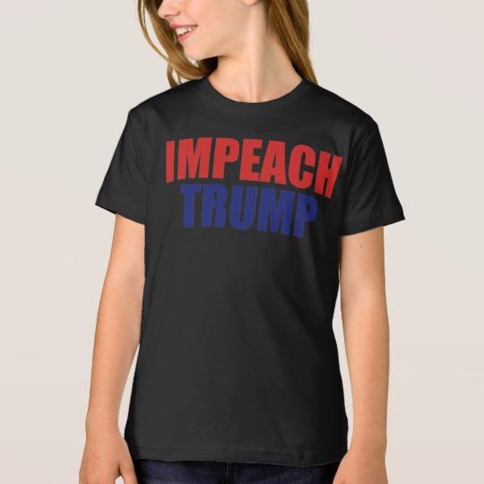 Impeach Trump Girls' American Apparel Organic T-Shirt