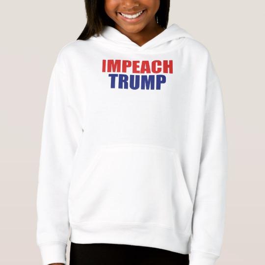 Impeach Trump Girls' Fleece Pullover Hoodie