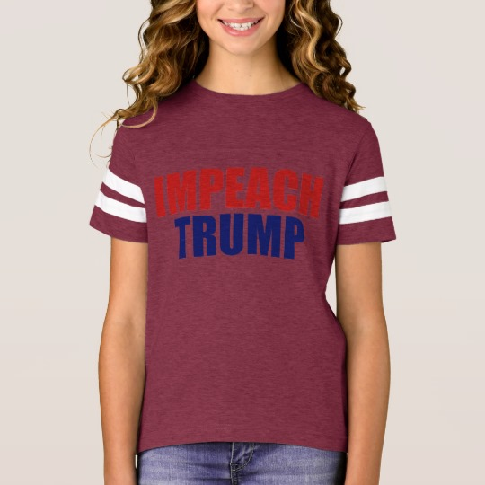 Impeach Trump Girls' Football Shirt