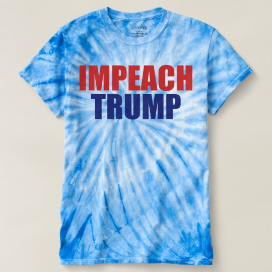 Impeach Trump Men's Cyclone Tie-Dye T-Shirt