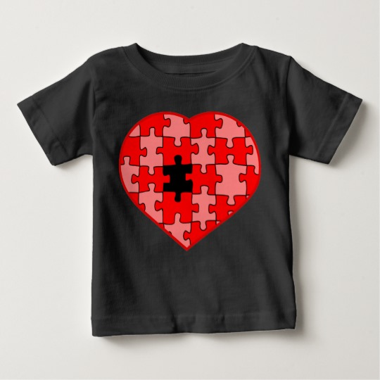 Heart Puzzle Missing a Piece Baby Fine Jersey T-Shirt