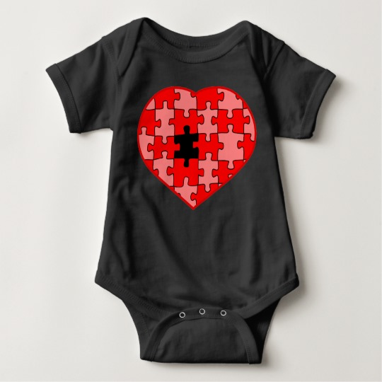 Heart Puzzle Missing a Piece Baby Jersey Bodysuit