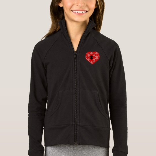 Heart Puzzle Missing a Piece Girls' Boxercraft Practice Jacket