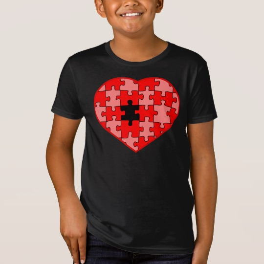 Heart Puzzle Missing a Piece Kids' American Apparel Organic T-Shirt