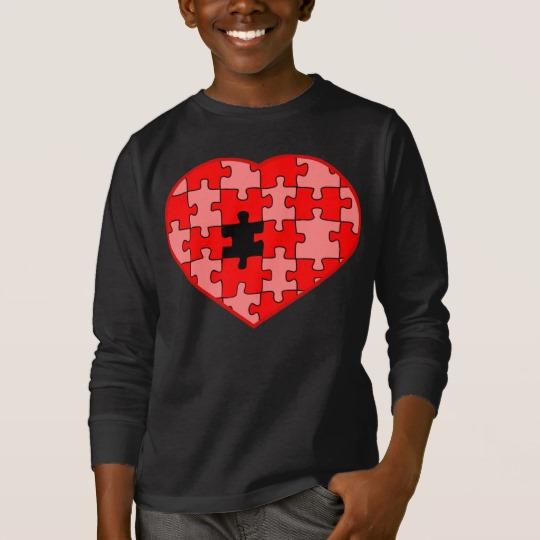 Heart Puzzle Missing a Piece Kids' Basic Long Sleeve T-Shirt